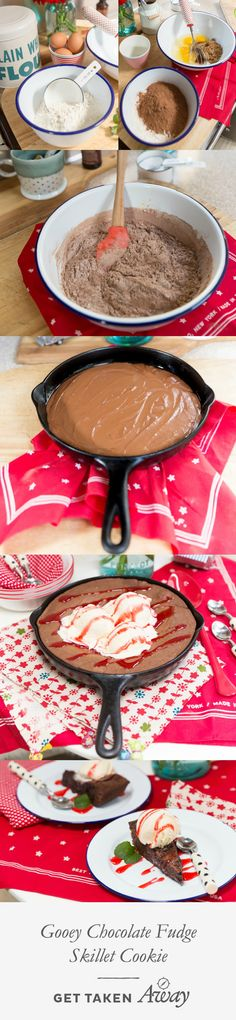 Gooey Chocolate Fudge Skillet Cookie recipe: Could dessert get any better than this?