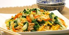 Chicken Noodle Stir-Fry - Recipes - Best Recipes Ever - This speedy stir-fry uses dry ramen noodles and it's perfect when you're strapped for time.