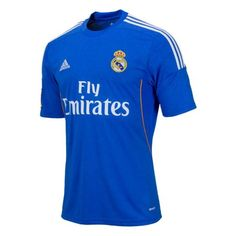 Show your support for Real Madrid with the latest soccer jerseys. Find football t-shirts and apparel. Football Kits, Football Jerseys, Adidas Real Madrid, Real Madrid Official, Air Force Blue, Sport Outfits, Blue And White, Mens Tops, T Shirt