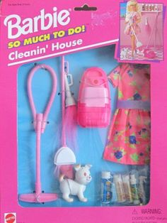 Barbie So Much To Do! CLEANIN' HOUSE Playset & Fashions (1995 Arcotoys, Mattel) by Arcotoys, Mattel. $80.00