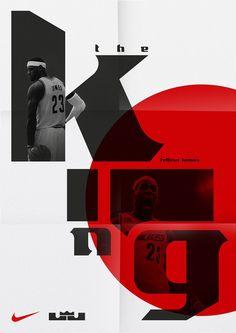 LeBron James e sua tipografia pela Sawdust via Lebron James, Basketball Posters, Nike Basketball, Basketball Stuff, Sports Posters, Graphic Posters, Sports Art, Graphic Art, Typography Design