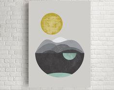 Art noir et blanc imprimé géométrique Art par exileprinted sur Etsy