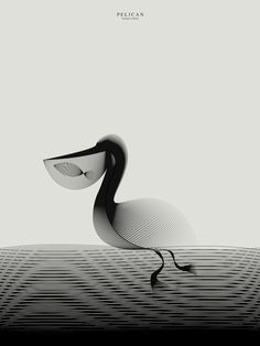 Milan-based designer Andrea Minini (previously) recently completed a new series of animals illustrated with textured moiré patterns, creating an unusual intersection between natural forms and mathematics. It's curious to see how the patterns give each illustration a great sense of motion, curving na