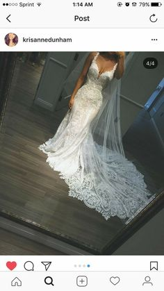 Like WOAH dress! Yep I need that when we renew our vows.