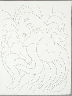 The Mane of Hair, page from Poésies, Henri Matisse      ;    Stéphane Mallarmé      ;    Albert Skira      ;    Léon Pichon      ;    Atelier Roger Lacourière, Paris, France