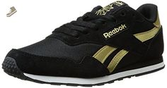 Reebok Women's Royal Ultra SL Fashion Sneaker, Black/Gold Metallic/White, 9 M US - Reebok sneakers for women (*Amazon Partner-Link)