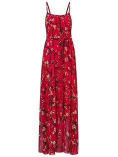 Sale 25% (34.39$) - Gracila Women Summer Chiffon Spaghetti Strap Printed Loose Maxi Dresses
