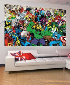 Look at this #zulilyfind! Marvel Two-Piece Landscape Mural Decal Set by Marvel #zulilyfinds