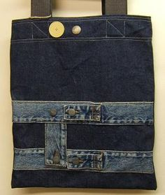 Jeans bag- love the use of the waistband
