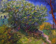 Lilac Bush, Vincent van Gogh. I have never seen this, how sweet, love it.