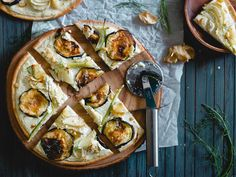 Filled with winter flavors like roasted eggplant and fennel, this white pizza is a classy way to do pizza night!