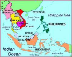 Southeast Asia Map (Nursing textbook: Immigrants from [...]Southeast Asia are more prone to tuberculosis. Me: ??? )