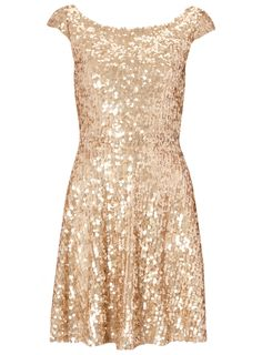 Rose Gold Sequin Skater Dress £32.99 #pinternacionale