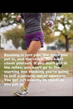 So true.....I run 5 days a week! I Love To Run, Run Like A Girl, Like Crazy, Just Run, Fitness Motivation, Sport Motivation, Marathon Running Motivation, Ironman Triathlon Motivation, Morning Motivation