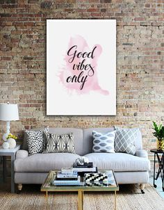 Good Vibes Only Print Wall Decor Positive Poster by LovelyPosters