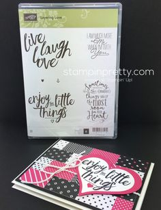 Stampin Up Layering Love Card - Mary Fish StampinUp