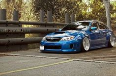 Subaru Impreza STI  (Tires are not supposed to be like that!!!!)