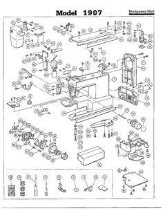 Sew Machine Mechanical Drawing