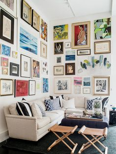 Are you thinking about spicing up your room? Try a Gallery Wall! Gallery Wall Inspiration Living room ideas bedroom inspo artwork inspiration gallery walls gallery wall how to gallery wall how to style home home decor home decor trend 2018 a Living Room Decor, Living Spaces, Living Room Gallery Wall, Eclectic Gallery Wall, Home Decor Inspiration, Decor Ideas, Diy Ideas, Art Decor, Decorating Ideas