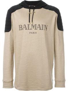 BALMAIN Logo Hoodie. #balmain #cloth #hoodie