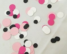 Check out this item in my Etsy shop https://www.etsy.com/listing/468886178/pink-and-black-confetti-250-count-paris