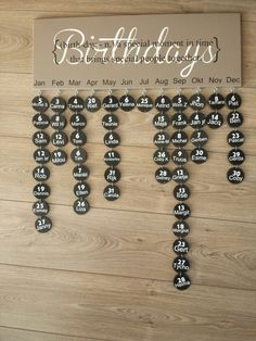 My own creation. ..birthday calender.: