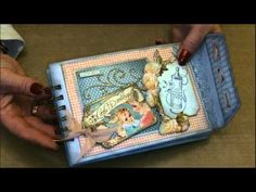 @Clare Charvill's video tutorial of how she made her wonderful altered art box and mini album. #graphic45 #videos
