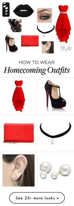 """""""#74"""" by everythings-you-want-is-me on Polyvore featuring Christian Louboutin, STELLA McCARTNEY, Lime Crime, Otis Jaxon, Givenchy and Allurez"""