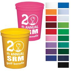"""Stadium cup - 16 oz 46015 - 16 oz polypropylene stadium cup. Product size: 3 5/8"""" dia x 4 3/8"""" H. 16 oz capacity when filled to the rim. Iconic promotional stadium cup. Available in 21 colors! BPA Free. #propelpromo"""