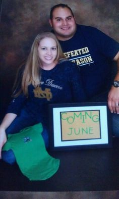 Our pregnancy announcement 2012. First baby!
