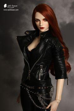 EID/SID_Woman Rider leather jacket