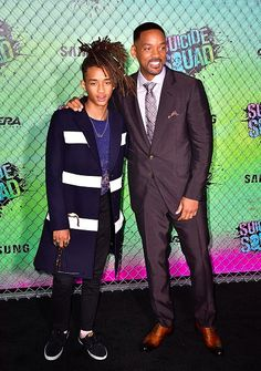 Will Smith Attends 'Suicide Squad' Premiere With Son Jaden - http://site.celebritybabyscoop.com/cbs/2016/08/02/attends-suicide-premiere #JadenSmith, #WillSmith