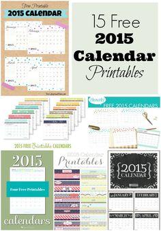 15 Free Printable 2015 Calendars