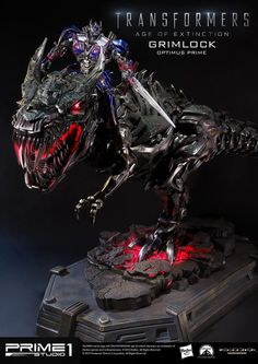 Transformers Age of Extinction: Grimlock Optimus Prime. Full Official Photoreview No.35 Hi Res Images by Prime1 Studio, Full Info too http://www.gunjap.net/site/?p=203970