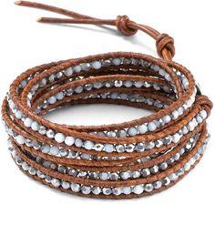 Chan Luu Five Wrap Multi On Natural Brown Beaded Bracelet - Polyvore