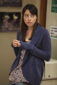 The girl knows how to rock a sweater. #AprilLudgate #ParksandRecreation