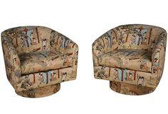 Chinoiserie Swivel Chairs