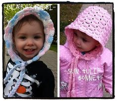 Ravelry: Sun Tulip Bonnet pattern by DearestDebi Crochet Cap, Crochet Socks, Tunisian Crochet, Crotchet, Crochet Crafts, Crochet Projects, Baby Patterns, Crochet Patterns, Crochet Ideas
