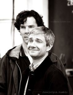 Benedict & Martin, setlock, 8/21/21013, London I absolutely adore this picture. Martin is adorable as always and Benedict looks sexy as all hell