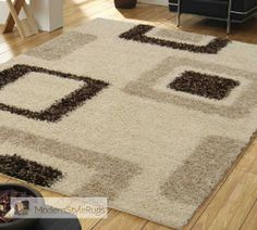 Mont Blanc Mb15 Ivory/Beige - Modern Style Rugs