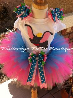 He Can FLY Dumbo Custome TuTu Set by flutterbyetutu on Etsy, $46.50