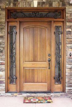 35 Ideas For Main Entrance Door Entryway Window Wooden Door Entrance, Wood Front Doors, House Doors, Entrance Doors, Wood Doors Interior, Front Door Design