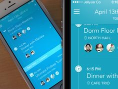 iPhone App - Agenda Screen by Eric Hoffman for JellyJar Co