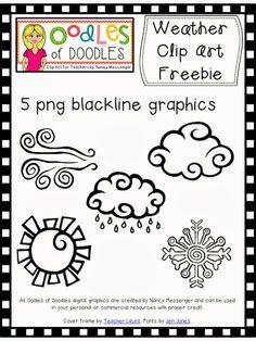 Oodles of Doodles by Nancy: Weather Clip Art Freebie