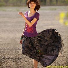 Liebo 3m Expansion Long Double Layer Chiffon Dress