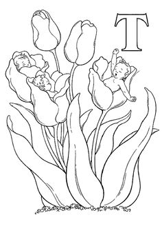 Alphabet Elf T Coloring Pages