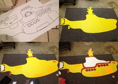 Beatles Birthday Party Yellow Submarine Process | www.inklingsandyarns.com