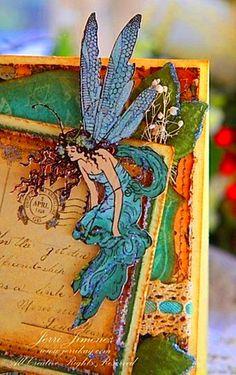 Beautiful art journal page .....