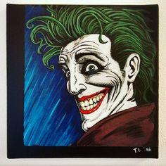 HAHAHAHAHA!!! The finished Joker Portrait inspired by Brian Bolland's work on The Killing Joke.  #DC #Joker #TheJoker #thekillingjoke #batman #comic #portrait #Acrylic #canvas #theartlovers #art #fanart #hommage #gallery #tribute #joke #arte #kunst #gallerie @hamillhimself