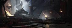 Inspiration for Saiyan Royal Throne room ((ArtStation - Throne room, Krystian Biskup)) Fantasy Concept Art, Fantasy Artwork, Dark Fantasy, Fantasy Art Landscapes, Fantasy Landscape, Viking Hall, Dark Castle, Throne Room, Fantasy Castle